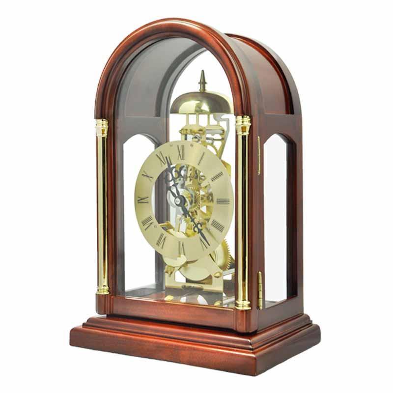 【北极星】北极星t303欧式古典实木台钟透视机械齿轮