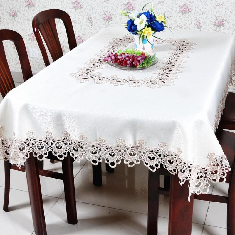 【凡轩家居】欧式田园刺绣花镂空圆布艺餐桌台布桌布