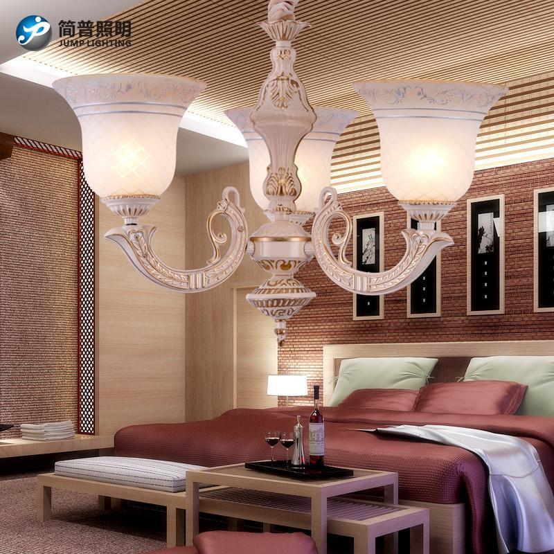 欧客厅吊灯led欧式灯客厅灯餐厅灯卧室灯h2202 5头吸吊两用不带光源