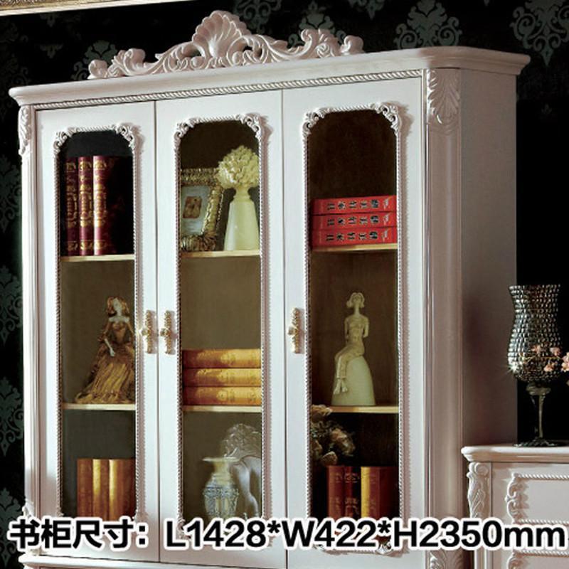 欧式书柜实木奢华雕花三