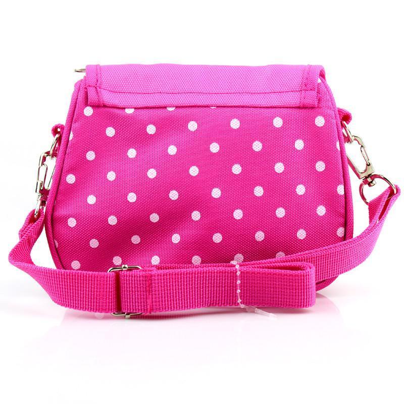 迪士尼儿童包包斜挎包女童宝宝可爱手拎包时尚小孩公主包 玫红色