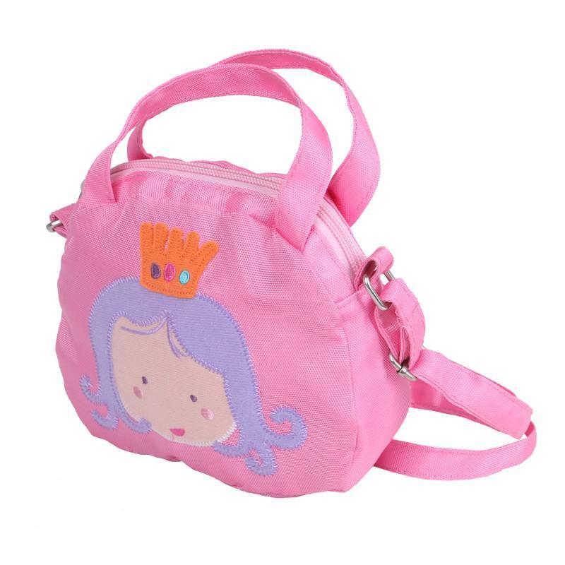 哈喜屋2014小挎包,甜美公主范,可爱女童斜跨小包包 粉色