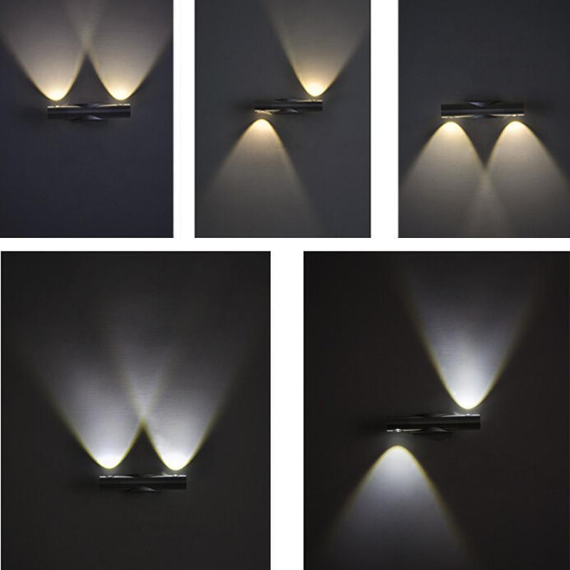美昕led壁灯 现代简约风格壁灯装饰画 床头壁灯 卧室背景墙壁灯6w暖