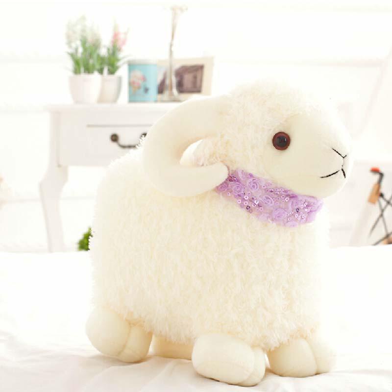 小绵羊公仔毛绒玩具 可爱嘟嘟小羊抱枕娃娃创意生日