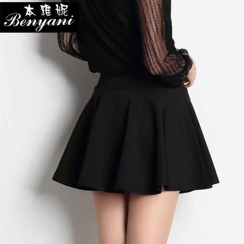 2014新款女裙时尚短裙子韩版伞裙气质显瘦