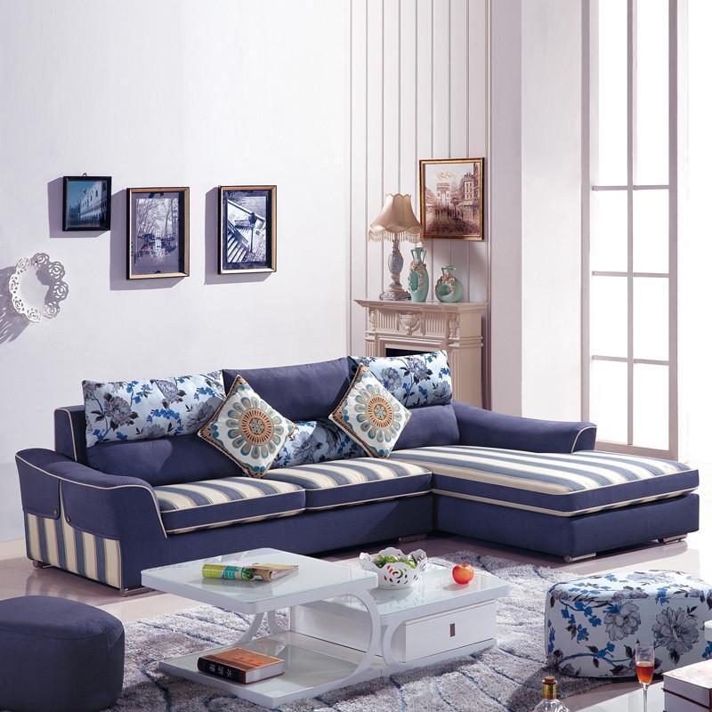 布艺沙发时尚布沙发小户型客厅转角组合现代