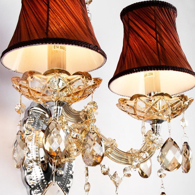 【奥朵灯饰】奥朵 欧式壁灯水晶床头灯