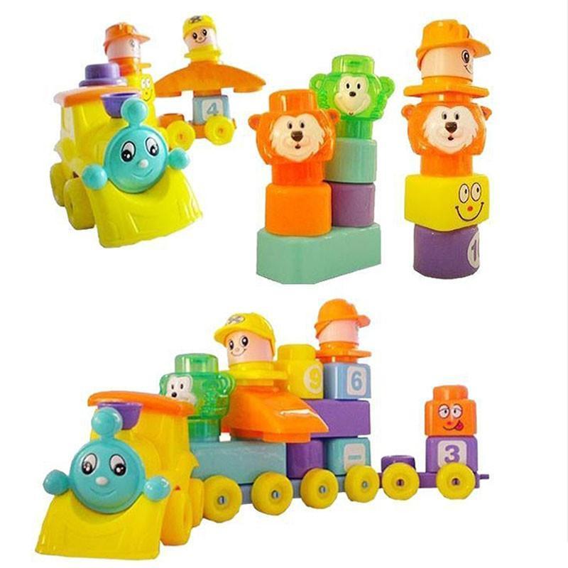 儿童玩具大颗粒卡通动物积木