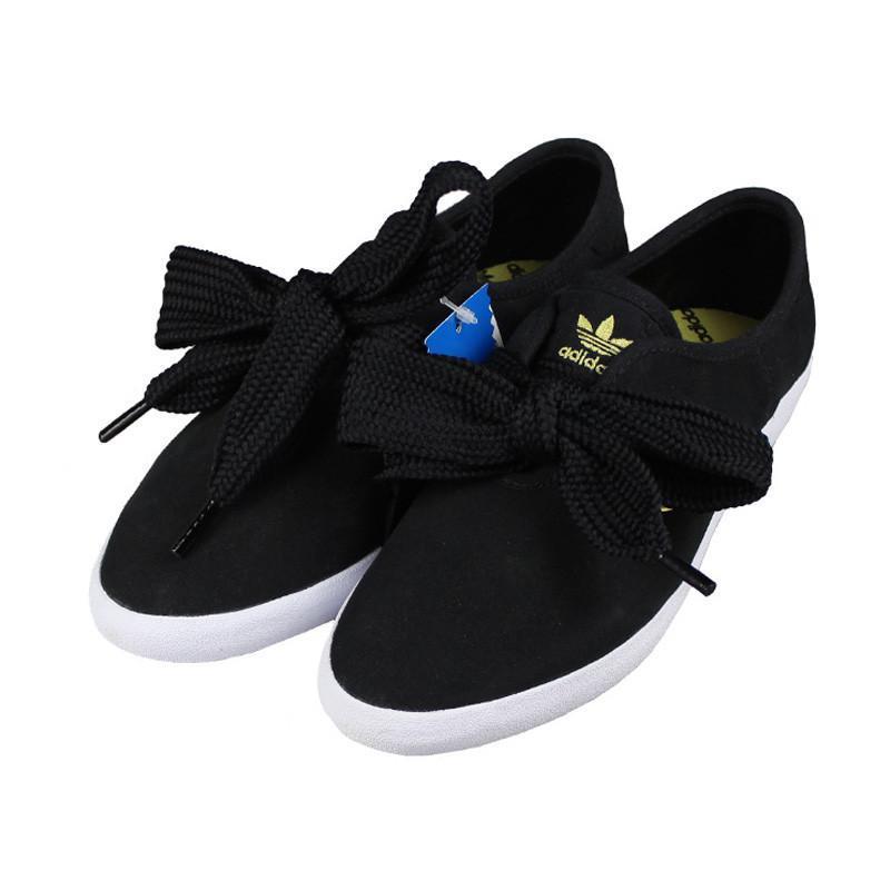 adidas阿迪达斯三叶草女鞋低帮蝴蝶结板鞋休闲鞋 dd g63085 黑色 39码