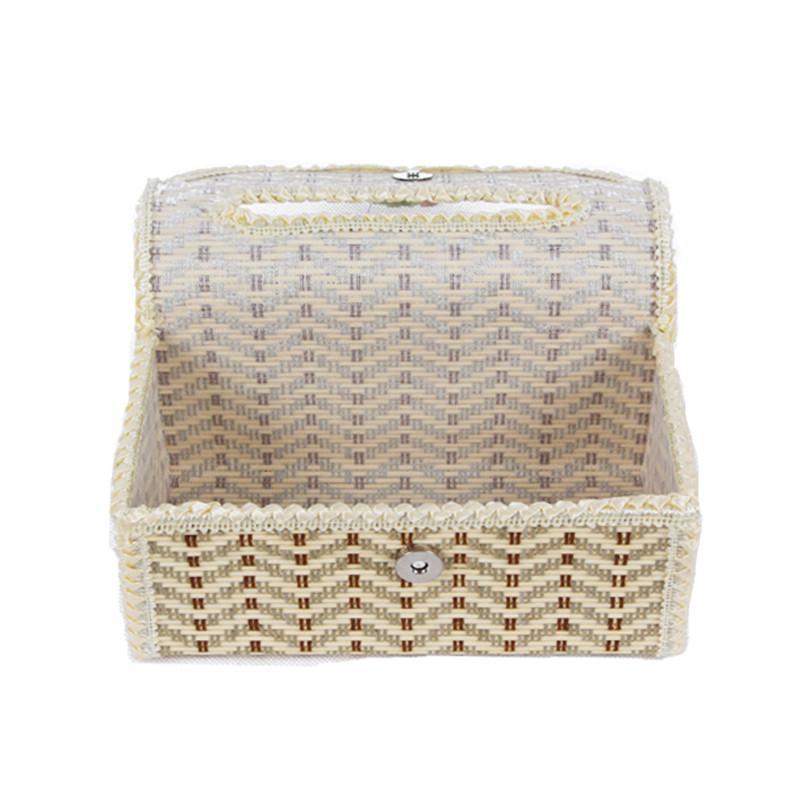 竹制纸巾盒 长方形抽纸收纳盒