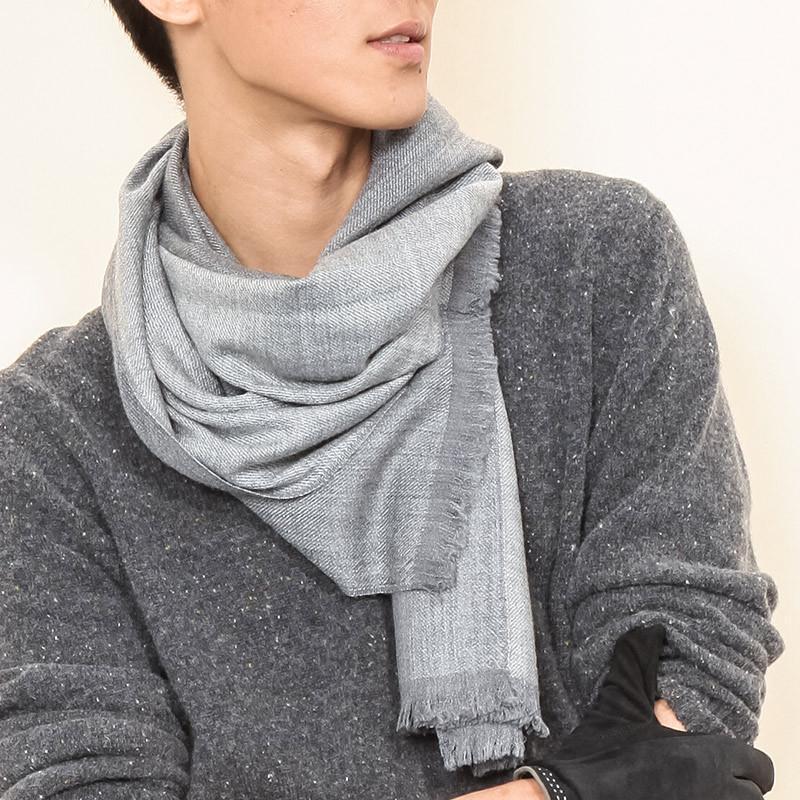 男士圍巾披肩系法 圖片合集圖片