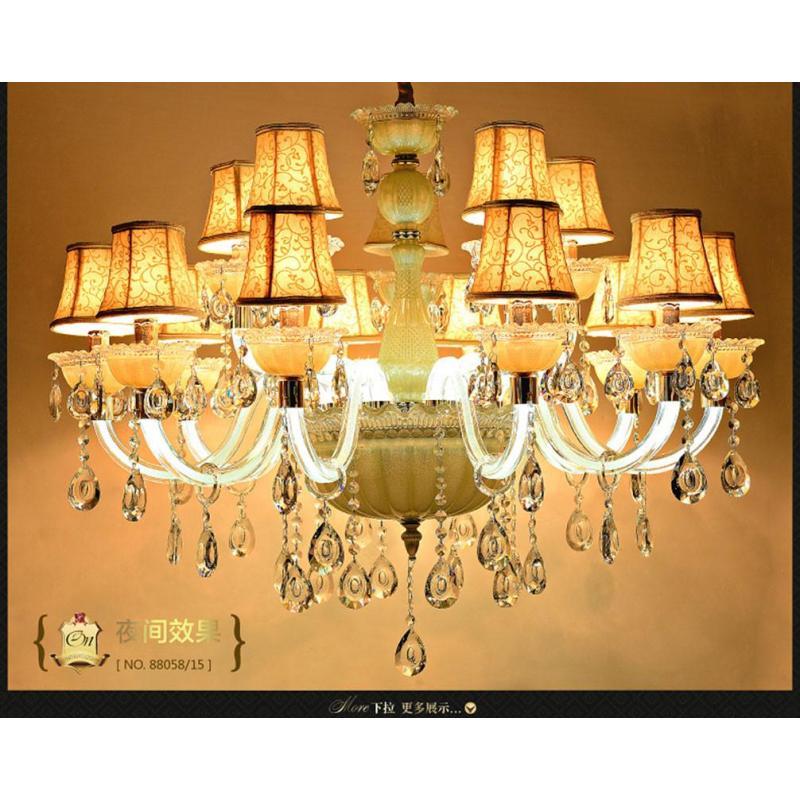 伦灯 欧式客厅水晶吊灯 独家创意卧室弯管发光led水晶