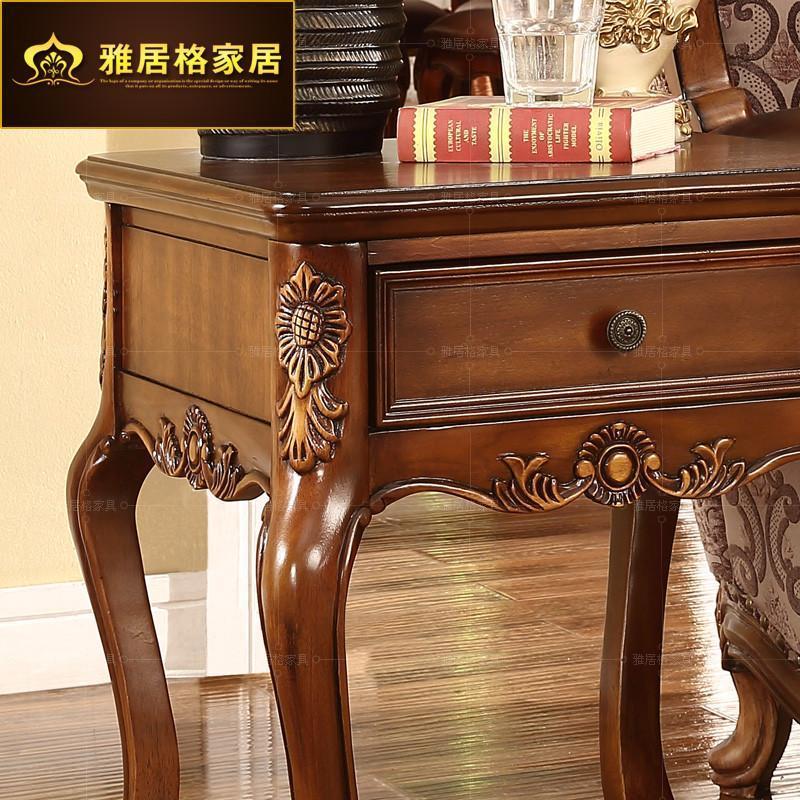 雅居格美式实木边几 客厅沙发角几 欧式小茶几边桌子f9116现货 东南亚