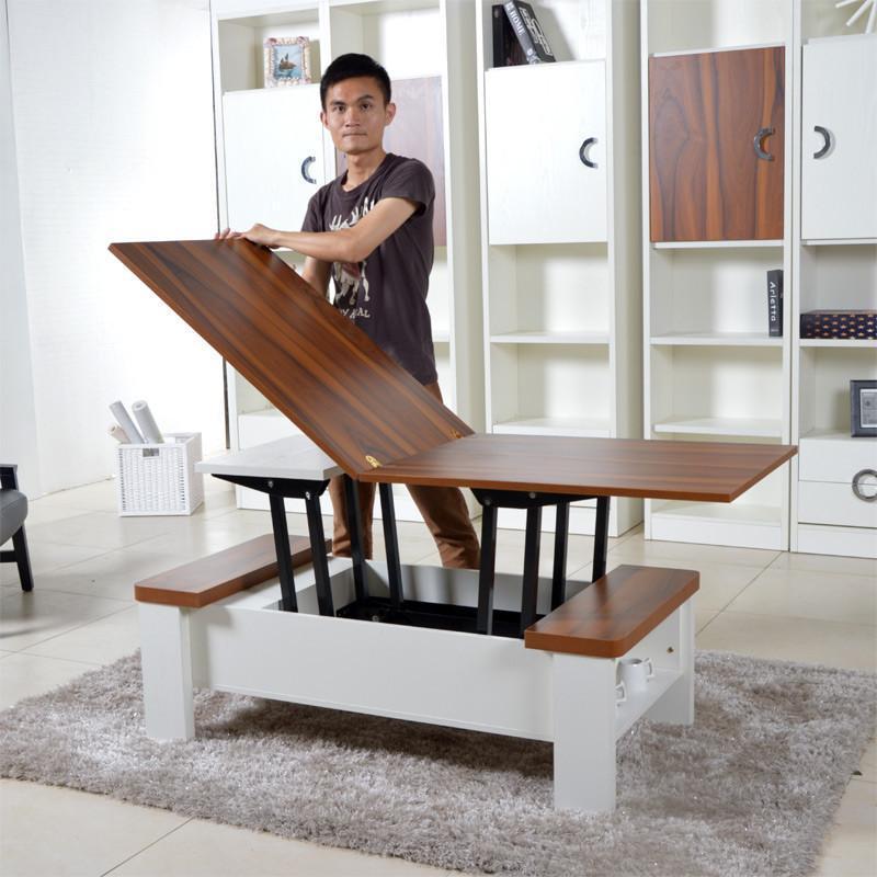 可升降茶几变餐桌两用折叠多功能创意家具小户型现