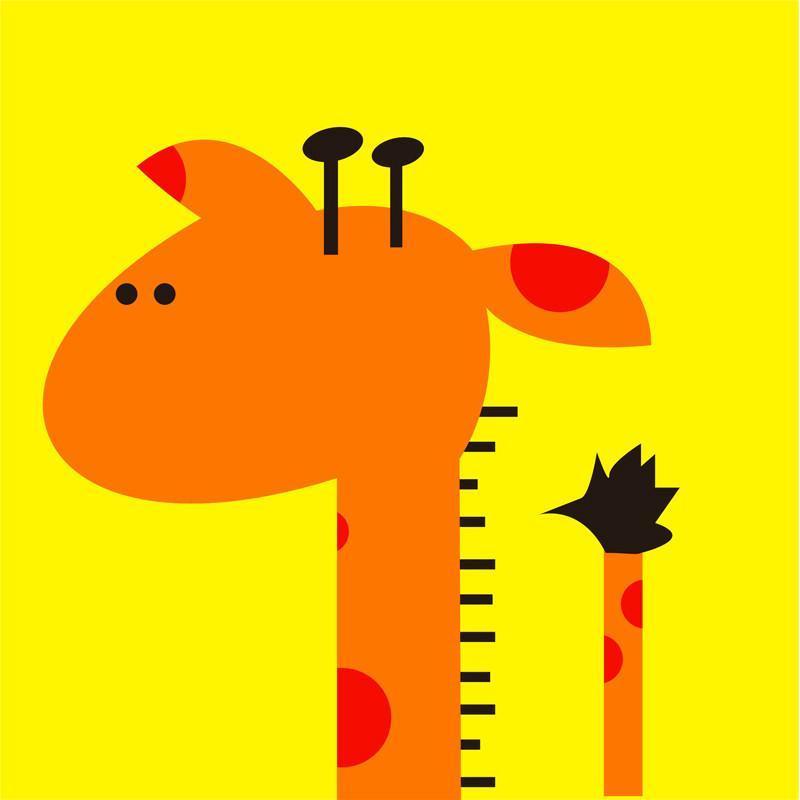 现代儿童房装饰画卡通动物壁画幼儿园挂画