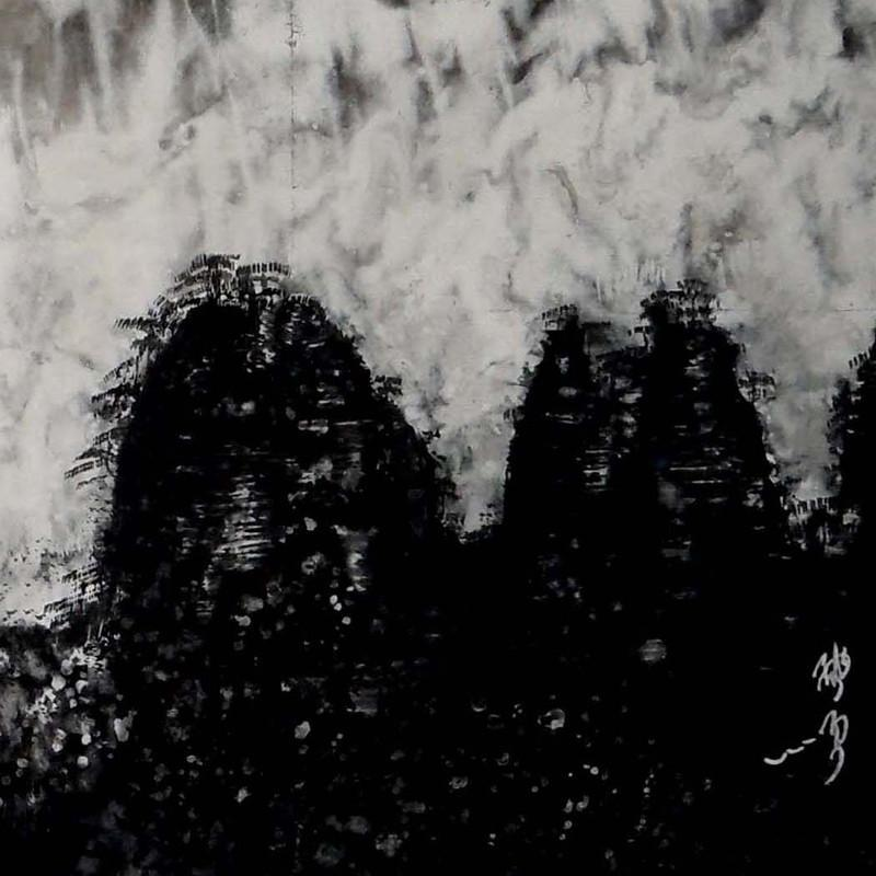 陈雨顺写实风景系列《白居易松树》横幅四尺整张