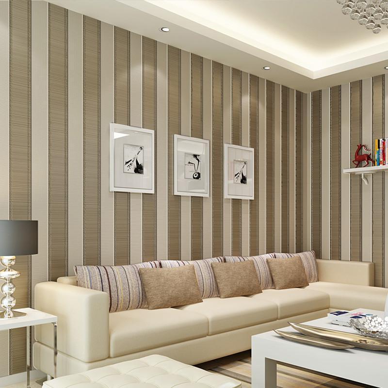 客厅竖条纹壁纸搭配窗帘效果图