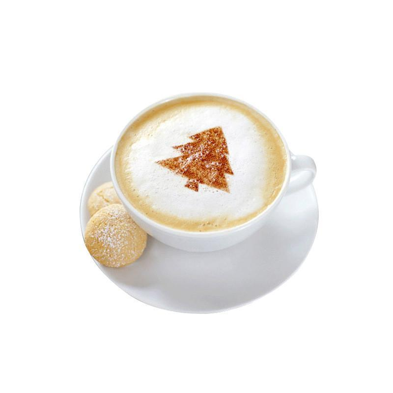 花式咖啡模具 圣诞咖啡铝制加厚奶泡咖啡拉花模具