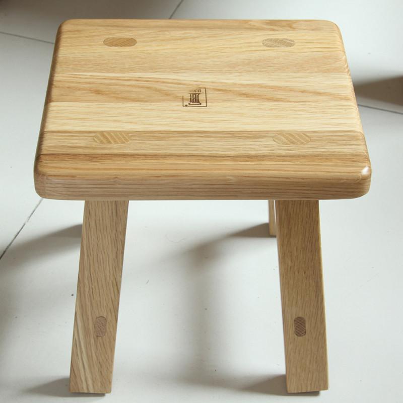 jbt/佳佰庭实木家具白橡木板凳小方凳子实木小板凳矮