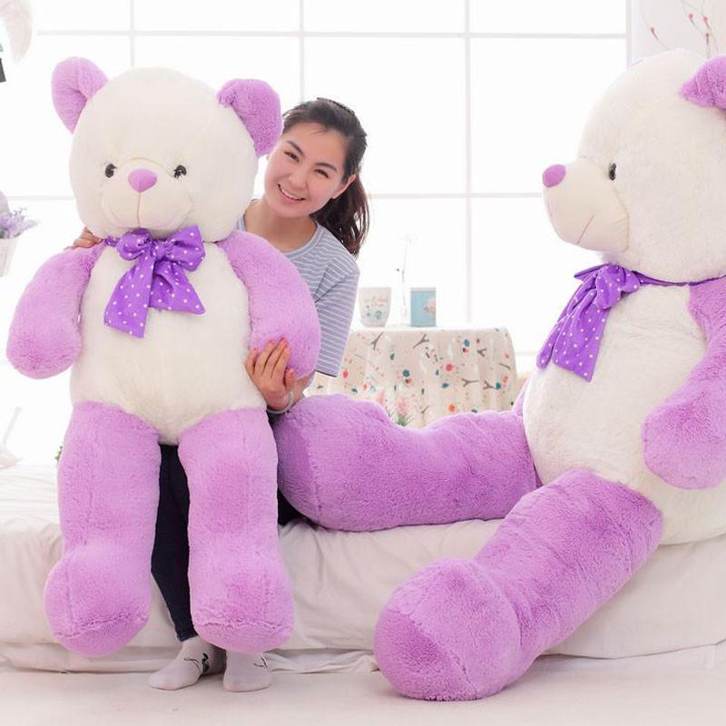 达娃毛绒玩具 s14011 大号可爱蝴蝶结泰迪熊糖果熊公仔生日礼物