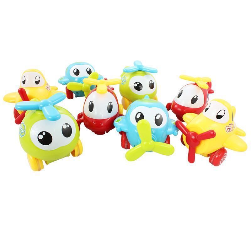 宝宝玩具q版惯性滑行回力小飞机卡通婴幼儿童opp袋4只装1220b