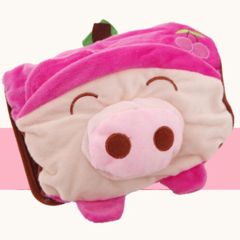 超可爱卡通小猪双插手热水袋/电暖袋
