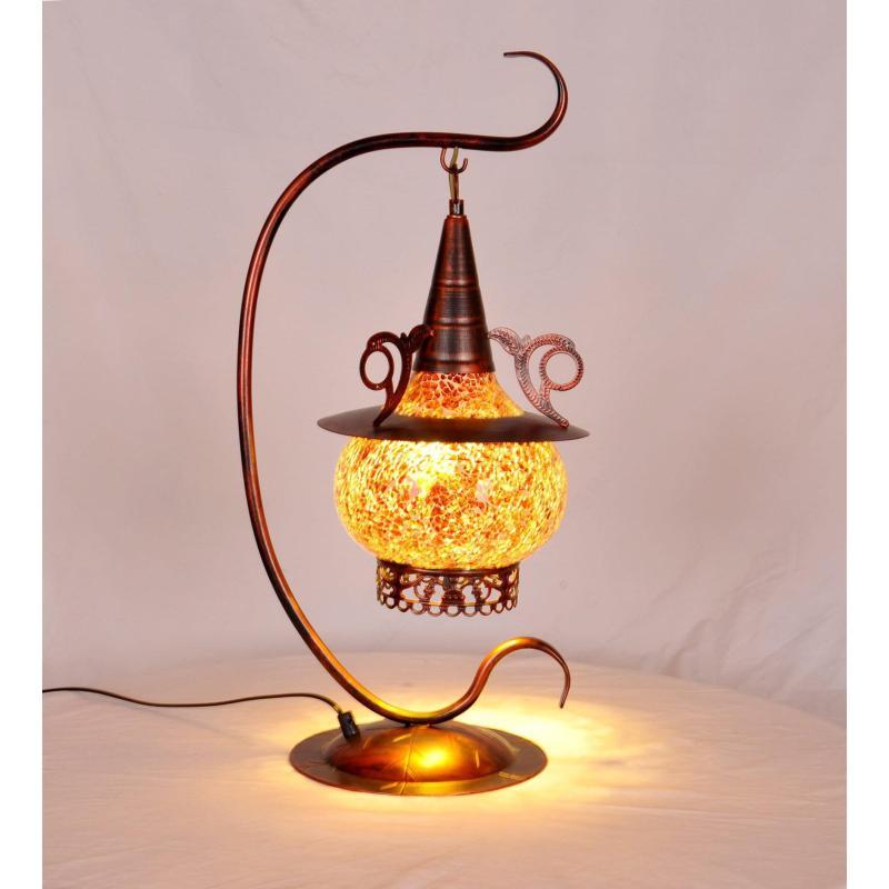 欧式复古东南亚尼泊尔玻璃装饰台灯