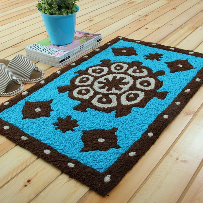 富居003sgbz 手工编织地垫 顺丰包邮浴室厨房防滑加厚地毯客厅进门厅