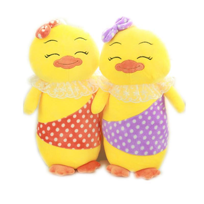 可爱小鸡抱枕毛绒玩具熊猫布娃娃办公靠枕生日礼物女包邮p 红色55厘米图片