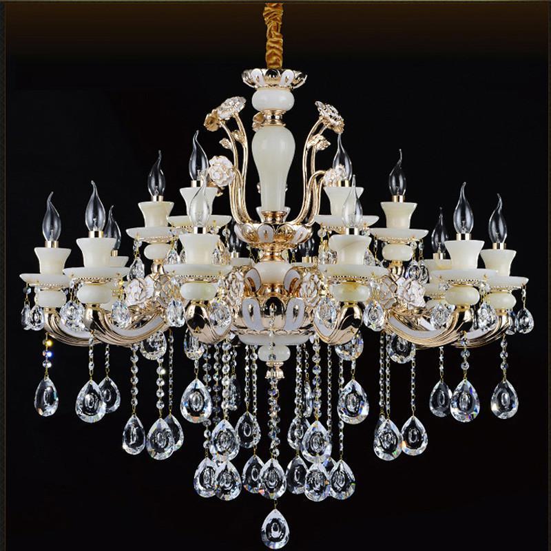 欧式水晶大吊灯 复式楼客厅大吊灯卧室灯