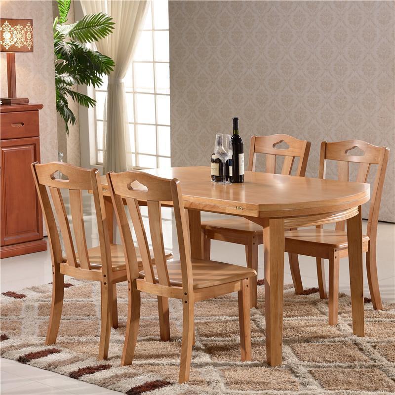 现代简约中式实木餐桌椅组合