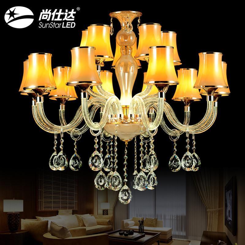 尚仕达 吊灯水晶灯蜡烛灯欧式吊灯led吸顶灯 灯具 简约客厅灯餐厅吊灯