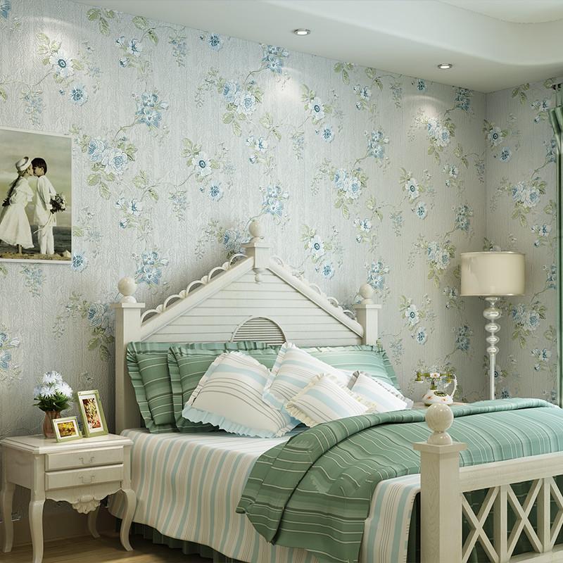 旗航壁纸 美式田园风格 深压纹花型壁纸 客厅卧室满铺墙纸qhm-e6图片