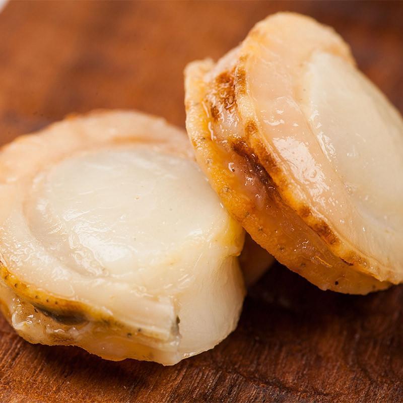 獐子岛冻煮扇贝800g 大连特产 冷冻海鲜 虾夷扇贝肉 海鲜刺身