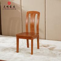 光明家具北美红橡木全实木座椅餐椅现代中式北京高档别墅二手家具图片