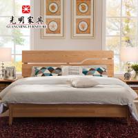 光明家具北欧简约风全实木床双人床1.8米婚床收秦皇岛家具旧图片