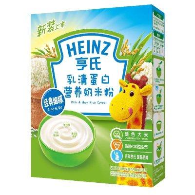 亨氏乳清蛋白营养奶米粉250g