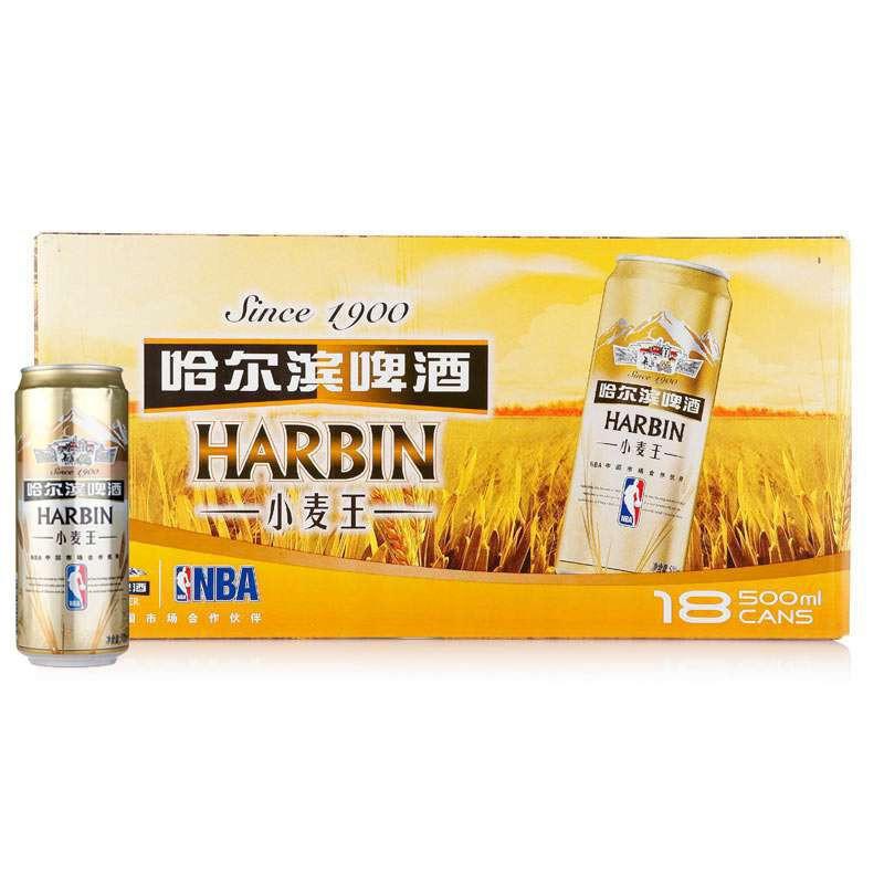 哈尔滨啤酒 小麦王500ml*18听