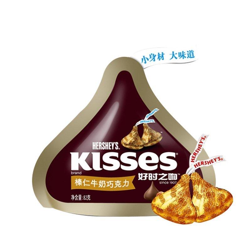 好时 KISSES好时之吻榛仁牛奶巧克力82g