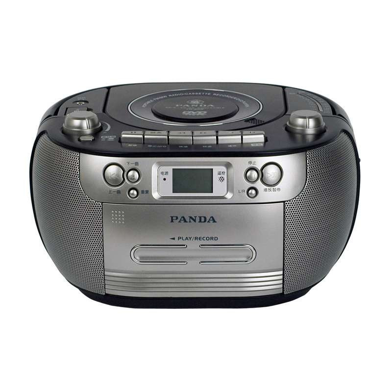 熊猫便携式DVD播放机CD-800 黑 磁带收音机USB数码播放