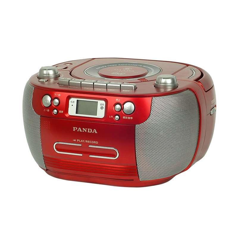 熊猫便携式DVD播放机CD-800 红 磁带收音机USB数码播放