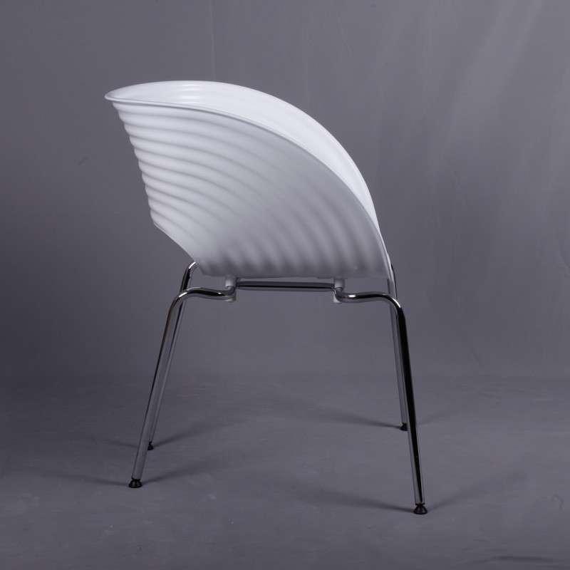 霍客森 贝壳椅创意椅 餐厅椅餐椅直销休闲办公椅欧式简约时尚椅 白色