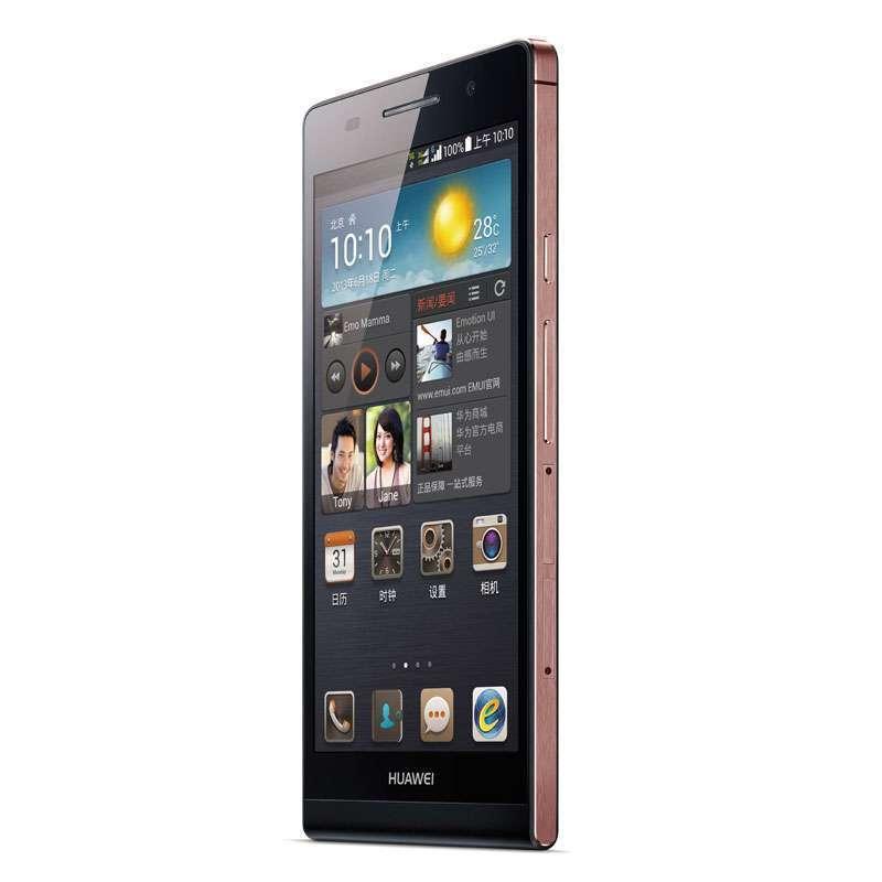 华为手机p6-c00(黑色)玫瑰金边框