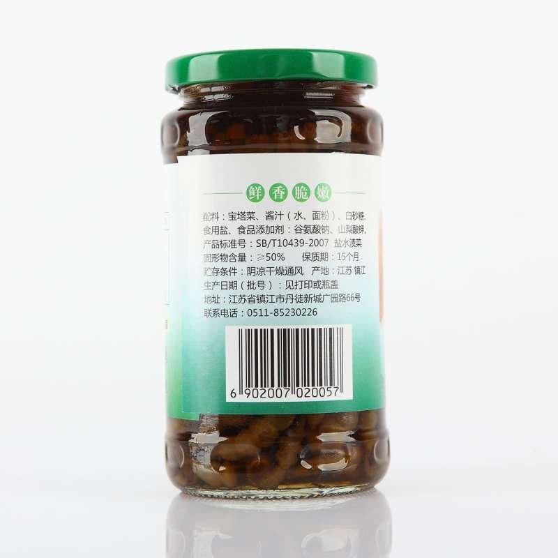 【恒顺】宝塔菜375g 江苏镇江特产 下饭小菜 腌制泡菜