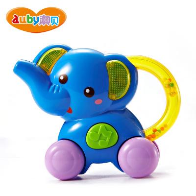 AUBY 澳贝 启智系列摇铃 小象喇叭 6-12个月 塑料材质155*64*208 463431DS