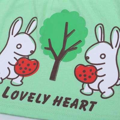 可爱可心 短袖上衣 短裤 f278m3-0203 绿色 100cm