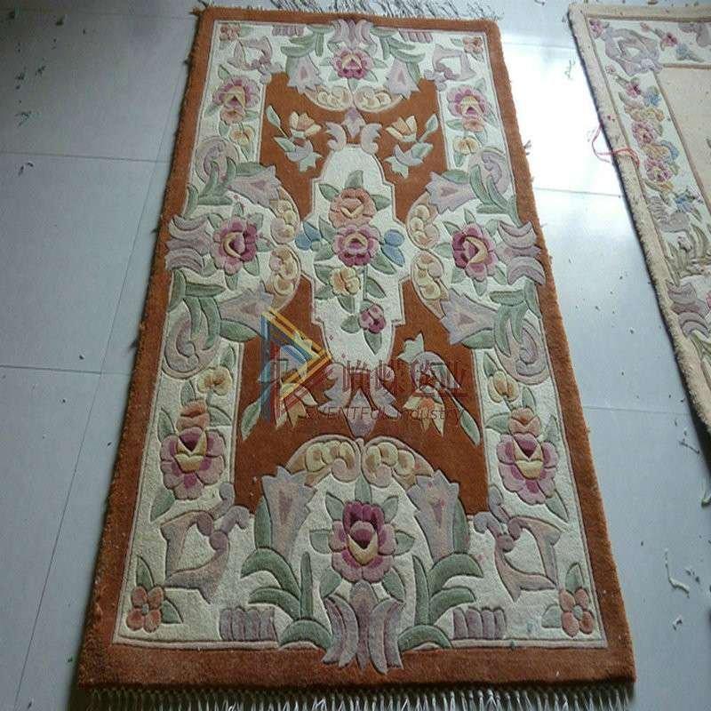 峥嵘毯业 欧式手工羊毛地毯 卧室客厅沙发地毯160*230