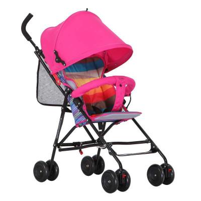 CHBABY超轻便透气全蓬冬夏两用婴儿推车伞车A301E彩网版 粉红色