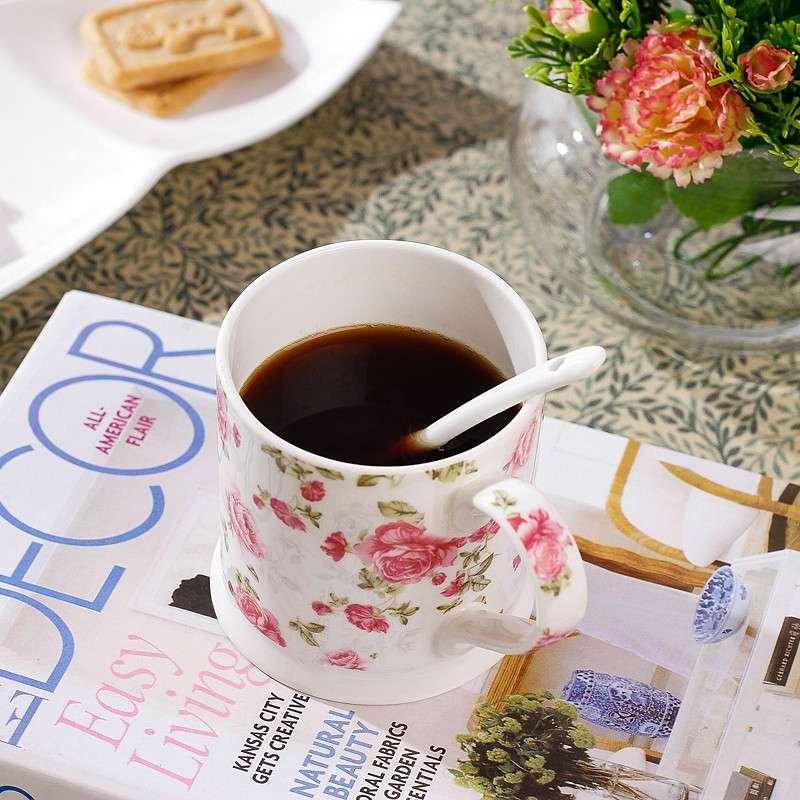 北府瓷业 优质创意陶瓷水杯 咖啡杯 随手杯子杯 早餐杯情侣杯骨瓷