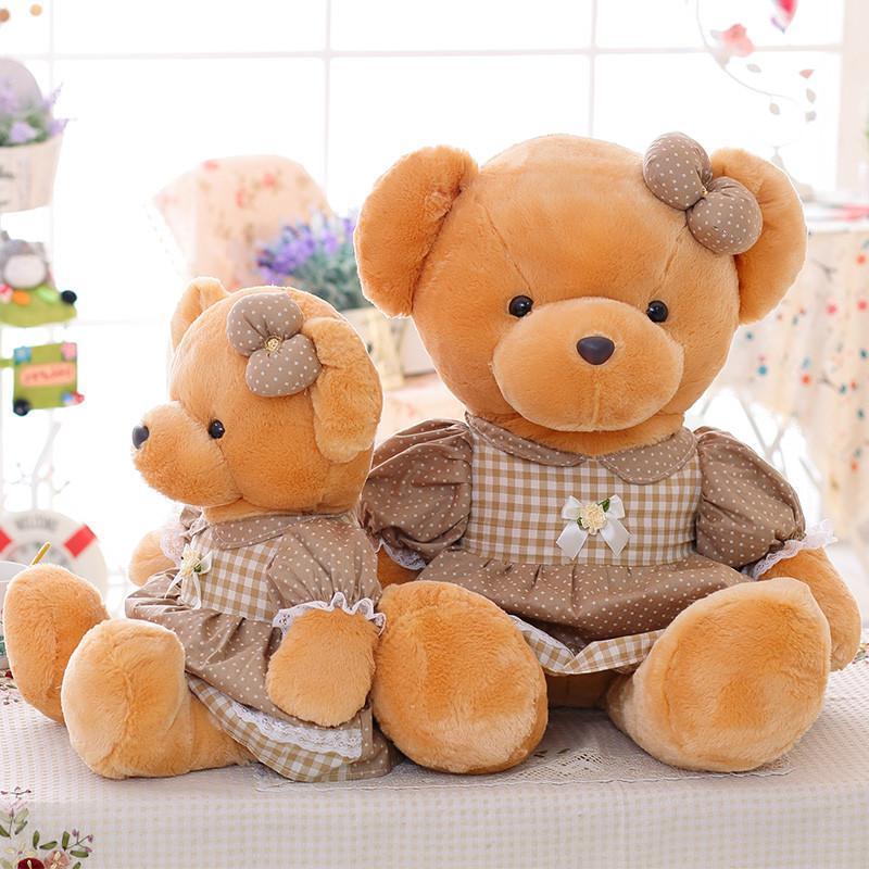 安吉宝贝 可爱裙子熊公仔 大号毛绒玩具熊布娃娃玩偶